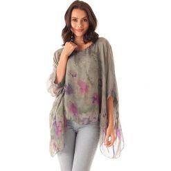 Bluzki damskie: Koszulka w kolorze khaki