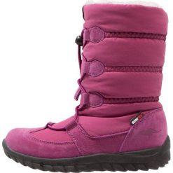 KangaROOS KFROST Śniegowce dark berry. Fioletowe buty zimowe chłopięce marki KangaROOS, z materiału. W wyprzedaży za 164,45 zł.