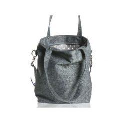Szara torba na ramię i na skos. Szare torby na laptopa marki Karolina audycka, z haftami, ze lnu, z haftem. Za 179,00 zł.
