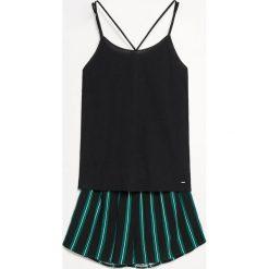 Piżama z szortami - Czarny. Czarne piżamy damskie marki Reserved, l. Za 79,99 zł.