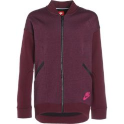 Nike Performance TECH Bluza rozpinana bordeaux/heather/bordeaux/active pink. Czerwone bluzy dziewczęce rozpinane marki Nike Performance, z bawełny. W wyprzedaży za 184,50 zł.