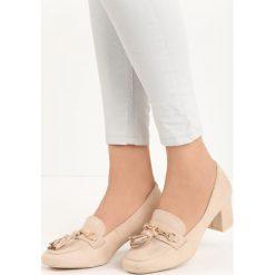 Beżowe Czółenka Gorin. Brązowe buty ślubne damskie marki NEWFEEL, z gumy. Za 69,99 zł.