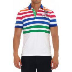 Koszulki polo: Koszulka polo w kolorze białym ze wzorem