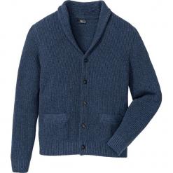 Sweter rozpinany z bawełny z recyclingu bonprix niebieski melanż. Niebieskie kardigany męskie bonprix, l, melanż, z bawełny. Za 89,99 zł.