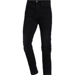Mustang VEGAS Jeansy Slim Fit denim black. Czarne jeansy męskie relaxed fit marki Mustang, l, z bawełny, z kapturem. Za 299,00 zł.