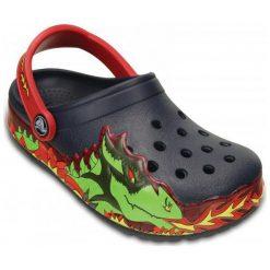 Crocs Buty Crocslights Fire Dragon Clog K Navy 23-24 (c7). Niebieskie buciki niemowlęce chłopięce Crocs, z paskami. Za 119,00 zł.