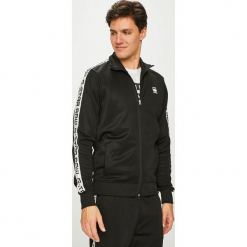 G-Star Raw - Bluza. Czarne bluzy męskie rozpinane marki G-Star RAW, l, z bawełny, bez kaptura. Za 369,90 zł.