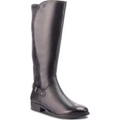 Oficerki CAPRICE - 9-25520-21 Black Nappa 022. Czarne buty zimowe damskie Caprice, z materiału. W wyprzedaży za 379,00 zł.