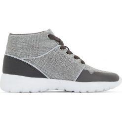 Wysokie trampki 26-39. Szare buty sportowe chłopięce marki La Redoute Collections, z materiału. Za 126,38 zł.