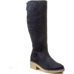 Kozaki TOMMY HILFIGER - Mia 4B FW0FW01831  Midnight 403. Czarne buty zimowe damskie marki TOMMY HILFIGER, z materiału, z okrągłym noskiem, na obcasie. W wyprzedaży za 449,00 zł.