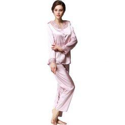 Piżamy damskie: 2-częściowa piżama w kolorze fioletowym
