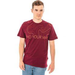 MARTES Koszulka męska Hi-Tec ISOBAR Bordowy r. XL. Czerwone t-shirty męskie MARTES, m. Za 33,75 zł.