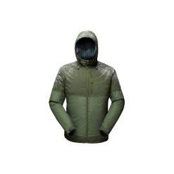 Kurtka turystyczna SH100 x-warm męska. Brązowe kurtki męskie marki LIGNE VERNEY CARRON, m, z bawełny. Za 149,99 zł.