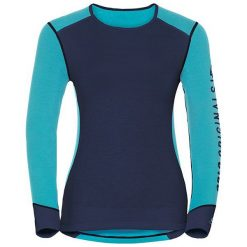 Odlo Koszulka tech. Odlo Shirt l/s crew neck WARM Revelstoke      - 150651 - 150651/20350/S. Niebieskie bralety marki Odlo, l. Za 147,74 zł.
