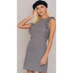 Sukienki hiszpanki: Andrea Hedenstedt x NA-KD Sukienka z marszczeniami – Black,Multicolor