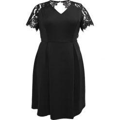 Sukienki hiszpanki: Dorothy Perkins Curve SLEEVE FIT & FLARE Sukienka letnia black