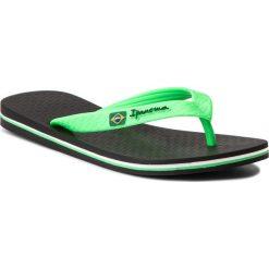Japonki IPANEMA - Clas Brasil II Ad 80415 Black/Green 20534. Zielone chodaki męskie Ipanema, z materiału. Za 64,99 zł.