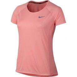 Topy sportowe damskie: Nike Koszulka damska Dry Miler Top Crew  pomarańczowa r. S (831530 808)