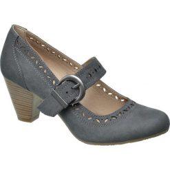Buty ślubne damskie: czółenka damskie Graceland popielate