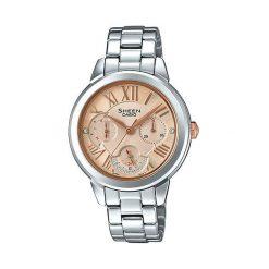Zegarek Casio Damski Sheen SHE-3059D-9AUER Swarovski MultiData. Szare zegarki damskie CASIO. Za 467,00 zł.