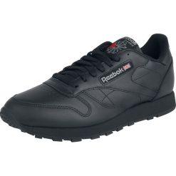 Reebok CL LTHR Buty sportowe czarny. Czarne buty sportowe męskie Reebok, z aplikacjami, z gumy. Za 324,90 zł.