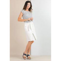 Spódniczki: Bawełniana spódnica z połyskiem