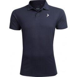 Koszulka polo męska TSM602 - ciemny granat - Outhorn. Czarne koszulki polo marki Outhorn, na lato, z bawełny. W wyprzedaży za 34,99 zł.