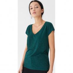 T-shirt z metalizowanym włóknem - Zielony. Zielone t-shirty damskie House, l, z włókna. Za 35,99 zł.