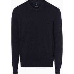 Andrew James - Sweter męski z dodatkiem kaszmiru, niebieski. Niebieskie swetry klasyczne męskie Andrew James, l, z kaszmiru, z dekoltem w serek. Za 229,95 zł.