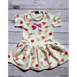 Sukieneczka w lody. Szare sukienki niemowlęce marki Pakamera, z dresówki. Za 119,00 zł.