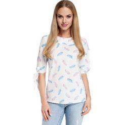 VALERE Bluzka z rozciętymi rękawami - model 1. Szare bluzki z odkrytymi ramionami Moe, z nadrukiem. Za 136,99 zł.