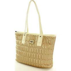 Pikowany kuferek torebka złoty. Żółte kuferki damskie Nobo, ze skóry ekologicznej, pikowane. Za 140,00 zł.