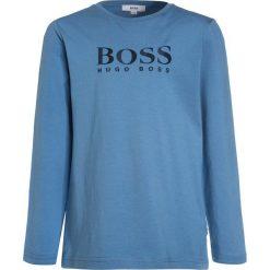Bluzki dziewczęce bawełniane: BOSS Kidswear Bluzka z długim rękawem himmelblau
