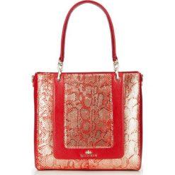 Torebka damska 86-4E-370-3. Czerwone torebki klasyczne damskie marki Wittchen, z motywem zwierzęcym. Za 449,00 zł.
