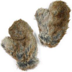 Rękawiczki damskie: Art of Polo Rękawiczki damskie futrzane jasnobrązowe (rk1910)
