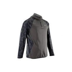 Bluza fitness kardio FSW500 męska. Czarne bluzy męskie rozpinane DOMYOS, l, z elastanu. Za 79,99 zł.