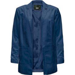 Żakiet aksamitny bonprix głęboki niebieski. Brązowe marynarki i żakiety damskie marki bonprix. Za 149,99 zł.