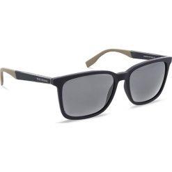 Okulary przeciwsłoneczne BOSS - 0263/S Blue Bluebei GT6. Niebieskie okulary przeciwsłoneczne męskie aviatory Boss, z tworzywa sztucznego. W wyprzedaży za 399,00 zł.