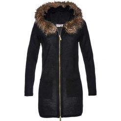 Sweter rozpinany ze sztucznym futerkiem bonprix czarny. Białe kardigany damskie marki Reserved, l. Za 119,99 zł.