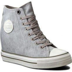 Sneakersy BIG STAR - W274658 Grey. Szare sneakersy damskie marki BIG STAR, z materiału. W wyprzedaży za 109,00 zł.