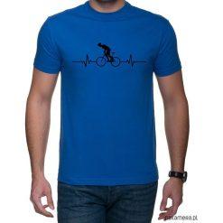 Koszulka T-SHIRT EKG Biker Yellow Blue. Niebieskie t-shirty męskie z nadrukiem Pakamera, m. Za 75,00 zł.