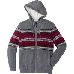 Kardigany męskie: Sweter rozpinany z kapturem Regular Fit bonprix szary melanż