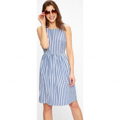 Vero Moda - Sukienka Candice. Szare sukienki mini marki Vero Moda, na co dzień, l, z bawełny, casualowe, z okrągłym kołnierzem, rozkloszowane. W wyprzedaży za 139,90 zł.
