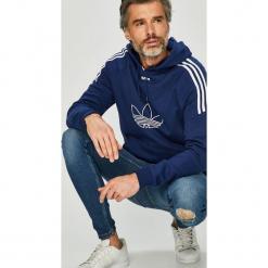 Adidas Originals - Bluza. Szare bluzy męskie rozpinane adidas Originals, l, z nadrukiem, z bawełny, z kapturem. Za 329,90 zł.