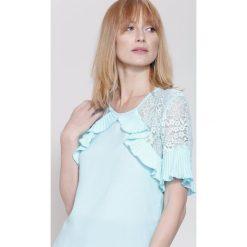 Bluzki damskie: Niebieska Bluzka  Arm Lace