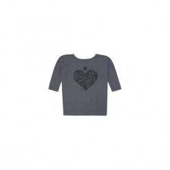 Bluzka RĘKAW 3/4 luźna z printem, we wzory. Szare bluzki nietoperze TXM. Za 34,99 zł.
