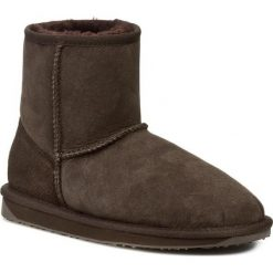 Buty EMU AUSTRALIA - Stinger Mini W10003 W/Choc. Brązowe buty zimowe damskie EMU Australia, z gumy. Za 549,00 zł.