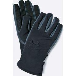 Under Armour - Rękawiczki MEN?S UA SOFTSHELL GLOVE. Czarne rękawiczki męskie Under Armour, z elastanu. W wyprzedaży za 99,90 zł.