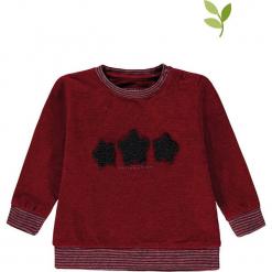 Bluza w kolorze bordowym. Czerwone bluzy dziewczęce rozpinane marki bellybutton, z aplikacjami, z bawełny. W wyprzedaży za 42,95 zł.