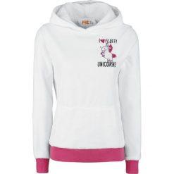 Minions Unicorn Bluza z kapturem damska biały. Białe bluzy z kapturem damskie Minions, xxl, z aplikacjami. Za 121,90 zł.